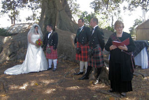 At Glynis & Gary's wedding the